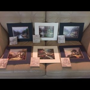 Thomas Kinkade Matted Prints (6)